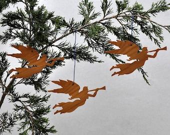 Three Angel Ornaments Christmas Tree Decorations Gift tags Flying Angel Shadepulls