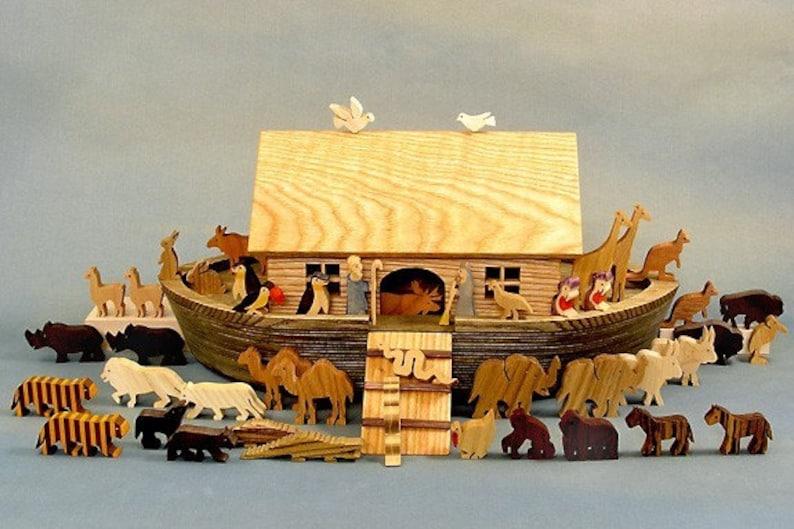 Heirloom Noah's Ark Wooden Noahs Ark Noah Ark Wood image 0