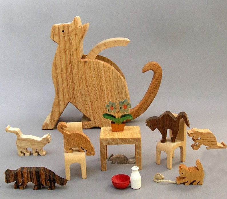 Kitten Caboodle wooden handcrafted gift for cat lovers image 0