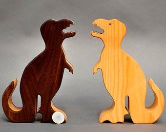 T Rex Piggy Bank Tyrannosaurus Rex Wooden Coin Money Bank Kids Baby showers Boys Girls Children Wooden Waldorf  Birthday Gift Nontoxic Toy
