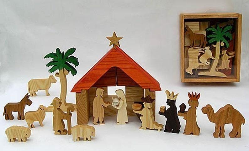 Play Nativity Wooden Nativity Set for Creative Biblical Play image 0