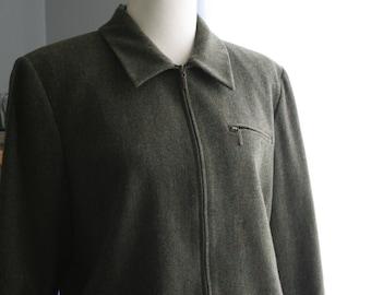 Vintage Pendleton / Vintage Wool Jacket / 90's Zip Front Blazer/ Vintage Clothing