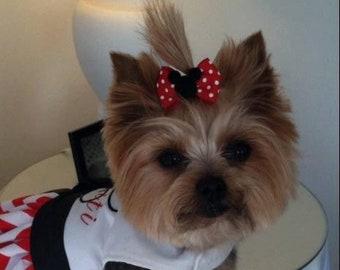 Large Dog Hair Bows Lhasa Apso Yorkie Shih Tzu Maltese Etsy