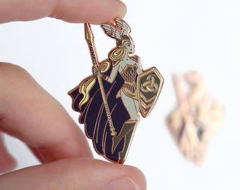 Beautiful Valkyrie Shield Maiden Pin