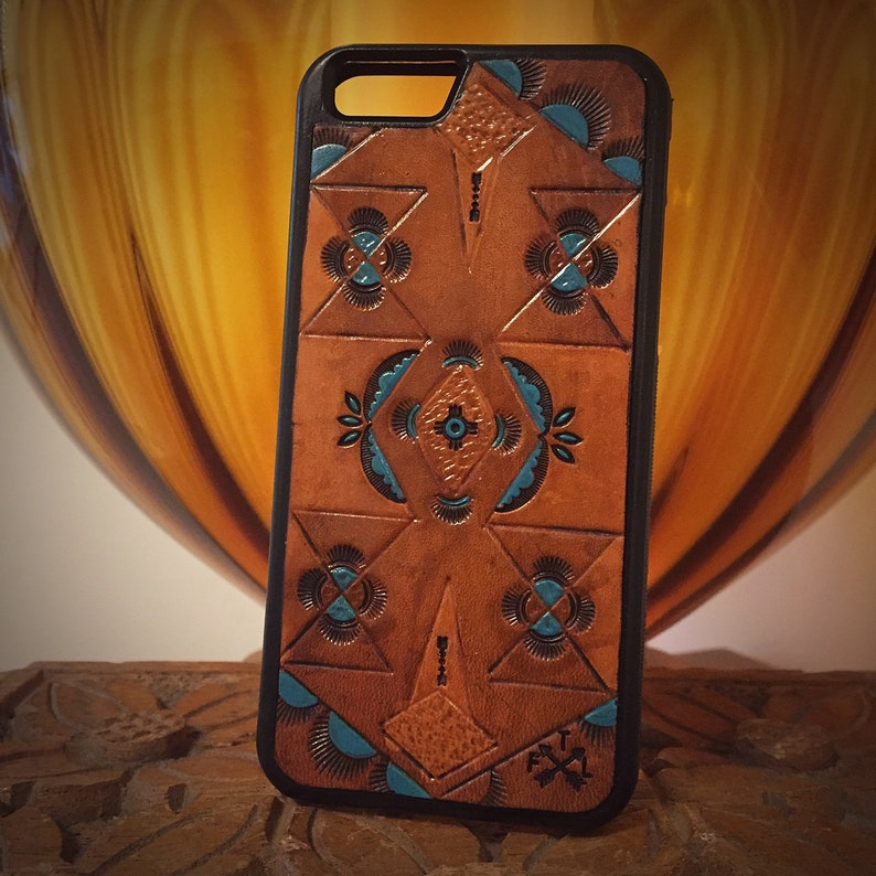 wholesale dealer 230ed 403d1 Hand Tooled Leather IPhone 6 Case