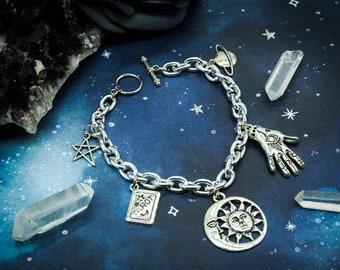 Silver Fortune Teller Charm Bracelet