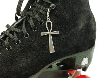 Silver Ankh Skate Charm - Shoe Charm, Zipper Pull, Bag Charm