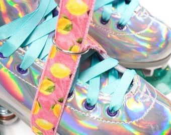 Pink Lemonade Roller Skate Leash with D Rings - Adjustable -  Yoga Mat Strap - Skateboard Sling