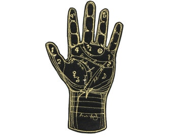 Palmistry Palm Reading Fortune Telling Iron On Patch