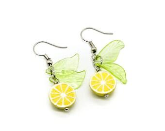 Lemon Ceramic Earrings