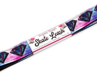 Diamond Galaxy Black Roller Skate Leash with D Rings - Adjustable -  Yoga Mat Strap - Skateboard Sling