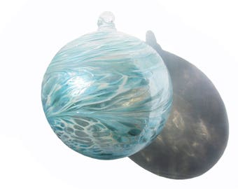 Blown glass ball etsy