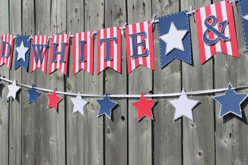 Red white and blue banner