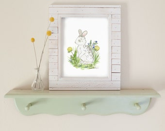 Woodland Nursery Art, Bunny Nursery Art- Children's Art, Forest Nursery Art, Rabbit, Easter Decorations, Spring Decor, Easter Bunny Print,