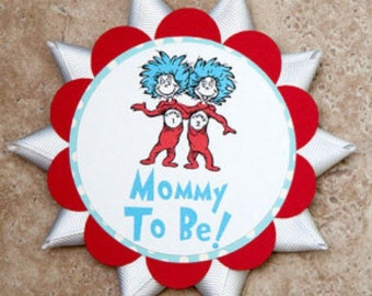 Dr Suess name tag for Baby Shower or Birthday Party