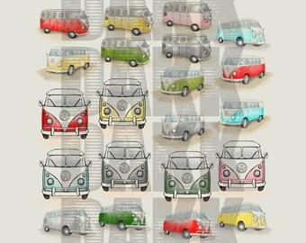 Volkswagen Bus PNG & JPG Files