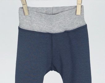 Grey Bamboo Knit Baby Joggers Gender Neutral Newborn Pants Gray Toddler Pants Baby Girl Leggings Baby Boy Leggings Modern Toddler Clothes