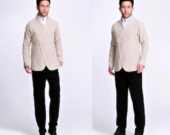 Fancy Jasper / East Meets West Linen Men's Jacket / 8 Colors/ RAMIES