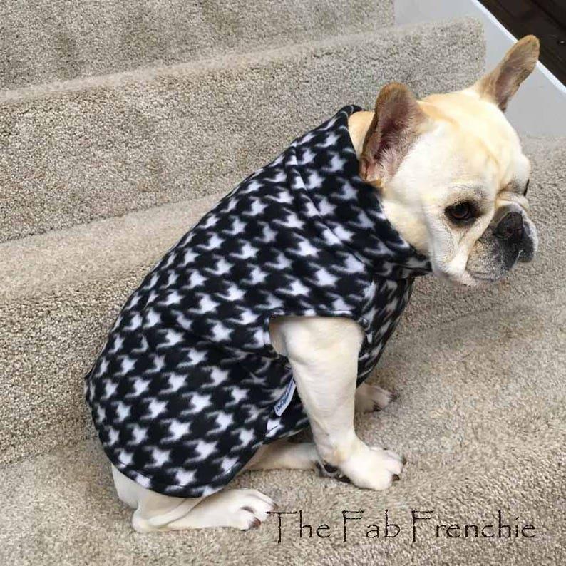 Französisch Bulldogg french bulldog Wintermütze Mütze  winter hat cap fleece