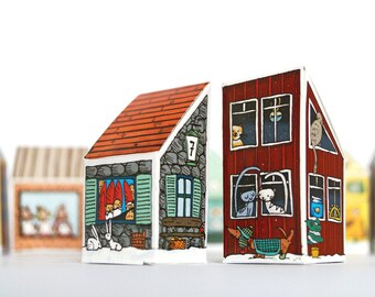 Advent Calendar Craft Sheet, DIY Advent Calendar for Filling, Advent Calendar Houses, Advent Calendar Illustrated, Advent Calendar Crafting