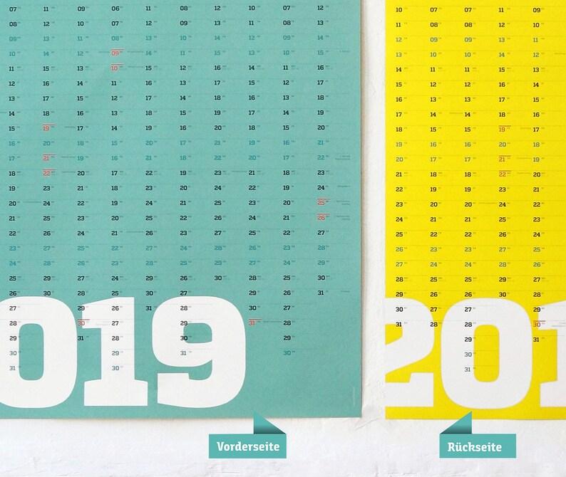 Calendario Da Parete Grande.2019 Calendario Calendario Da Parete Grande A1 Planner Calendario Anno Planner Blu Giallo Panoramica Annua Bella Parete Planner