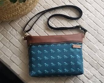 Great Lakes crossbody bag, genuine leather crossbody, handbag, purse, shoulder bag, women's purse, fanny pack,Michigan made, midwest