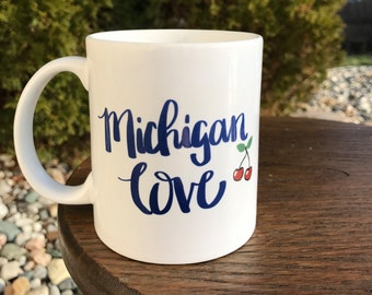 Michigan Love 11 oz Coffee Mug