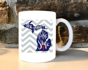 Michigan Great Lakes  11 oz Coffee Mug