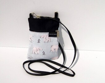 Polar Bear Cell Phone Purse or Water Bottle Purse