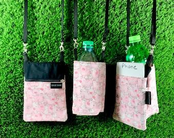 Pig Phone Purse, Pig Water Bottle Holder, 2 Piece Set, Pig Coin Purse, Pig Crossbody Purse, Pig Water Bottle, Pig Phone Case, Pig, Animal