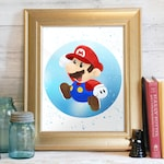 Mario Bros Print, Super Mario, Marios Bros Printable, Nintendo Art, Super Mario Bros, Printable Decor, Video Game Art: It's Me! Mario!