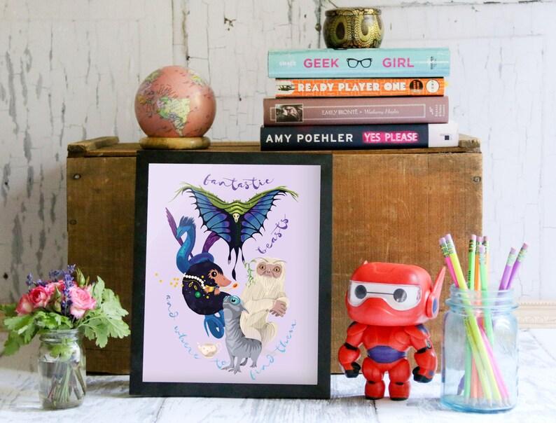 Magic Magical Creatures Magical Beasts Art Fantasy Decor image 0