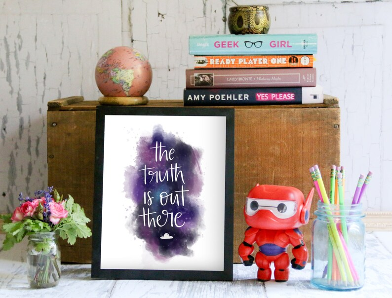 Fox Mulder, Dana Scully, Aliens, I Want To Believe, UFO, Watercolor Galaxy,  Watercolor Space, Stars: The Truth is Out There