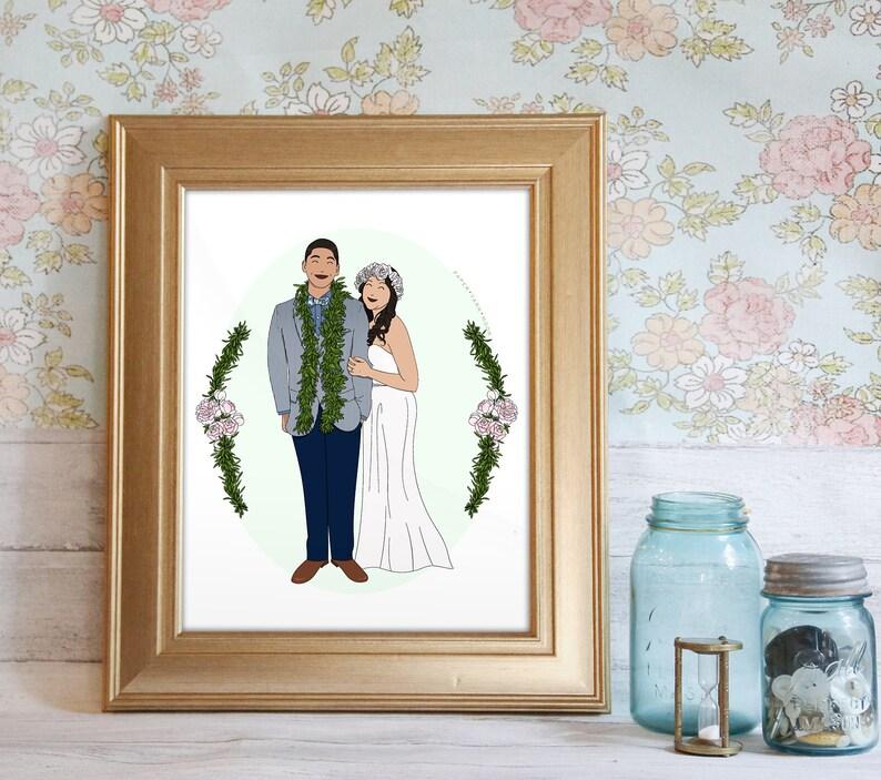 Custom Portrait Illustration Couple's Portrait image 0