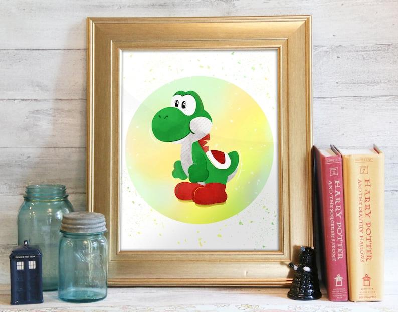 Yoshi Mario Bros Print Super Mario Marios Bros Printable image 0