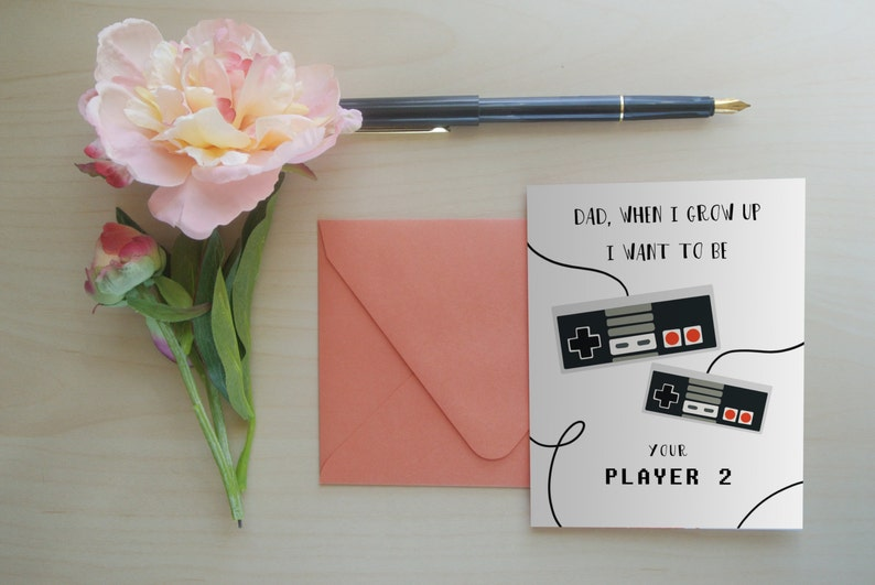 Father's Day Card Gamer Dad Gifts for Dad Greeting Card image 0
