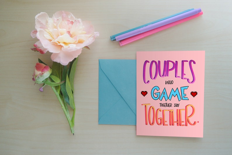 Greeting Card Gaming Card Gaming Couples Card for Her Card image 0