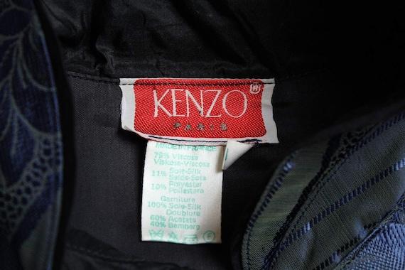 RARE Vintage 70's Kenzo Paris Floral Brocade Irid… - image 5