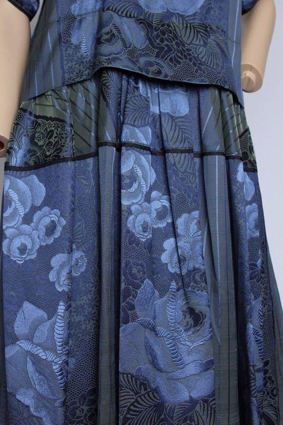 RARE Vintage 70's Kenzo Paris Floral Brocade Irid… - image 2