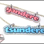 SALE! Discontinued Design! Tsundere or Yandere Necklace, Anime, Manga, Pastel, Gifts Under 10