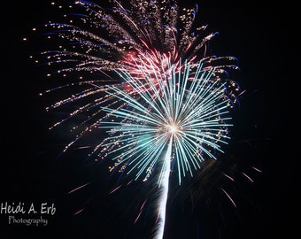 Fireworks Note Card Blank Note Card P O Notecard New Years Card Fourth Of July Patriotic Independence Day Single Card Multi Pack