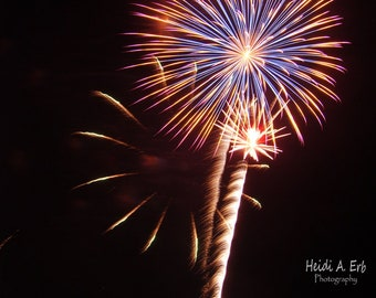 Blank Note card, photo note card, Fireworks card, fourth of July, patriotic, Independence day, Fireworks notecard, Fireworks photography