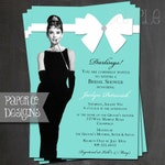 Breakfast at Tiffany's Bridal Shower Invitation, Birthday Invitation, Baby Shower Invitation - Printed OR Printable File
