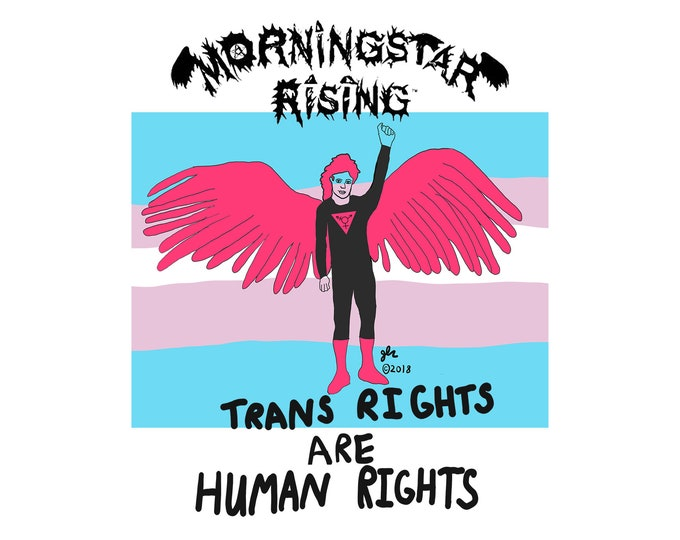 LGBT Pride Transgender Nonbinary FTM MTF Genderqueer Trans Rights Are Human Rights Queer Punk Queercore Morningstar Rising Band Art Shirt