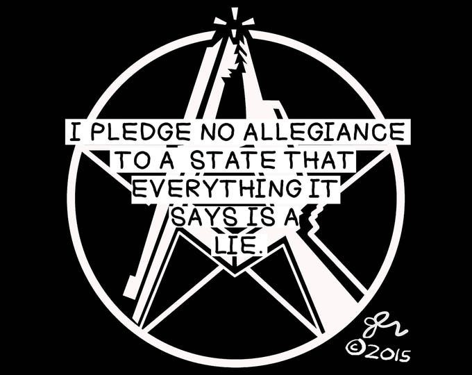 Punk Shirt Punk Shirts DIY Crust Anarchist Anarcho Punk Anarchy Rocker Print Art Original No Allegiance to Lies Political Shirt