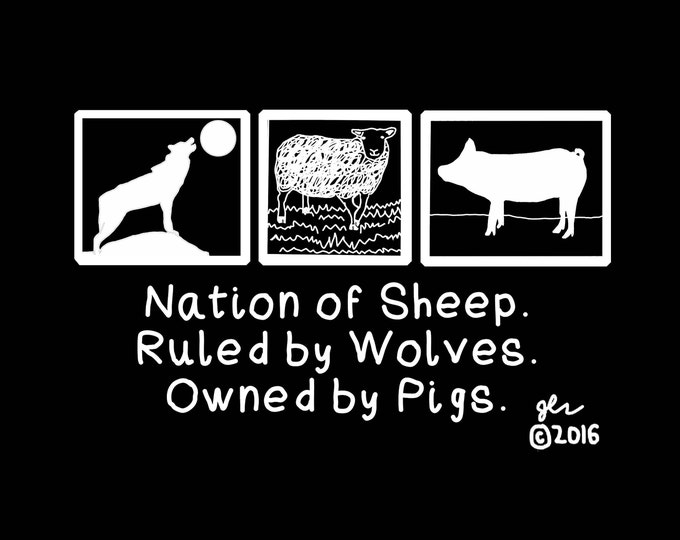Punk Shirts Punk Shirt Political Punk Nation of Sheep Ruled by Wolves Owned by Pigs Capitalism Crust DIY Shirt