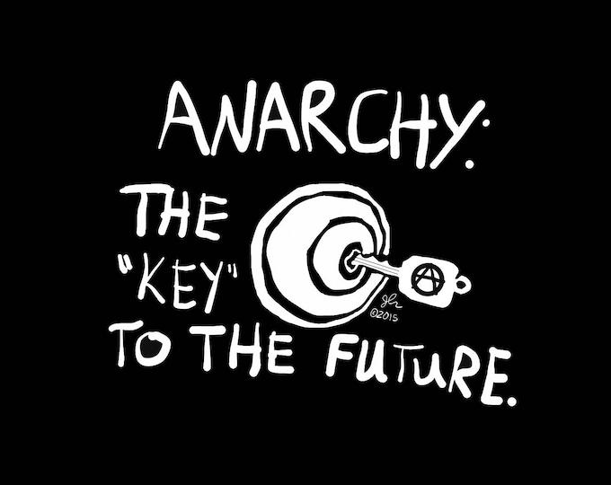 Art Punk Shirts Punk Shirt Print Key Anarchy Anarchist Anarchism Anarcho Punk Anarcha Feminist DIY Lock Door Crust Political Shirt
