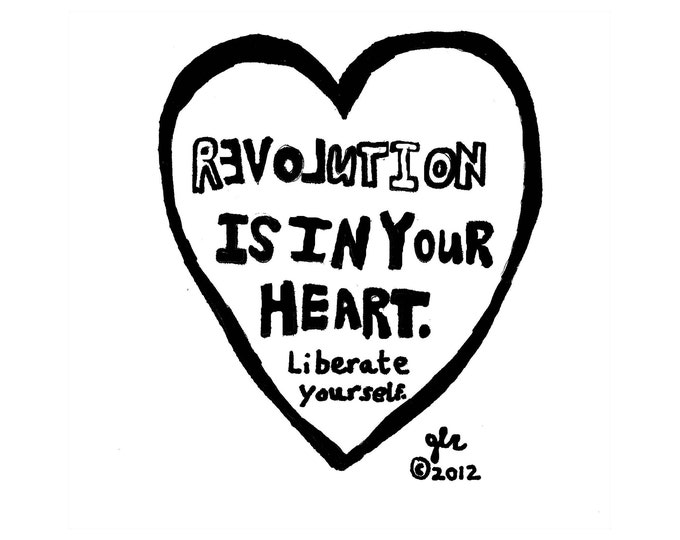 Art Punk Shirts Punk Shirt Print Truth DIY Crust Anarchy Love Riot Grrrl Revolution Is In Your Heart Liberate Yourself Shirt