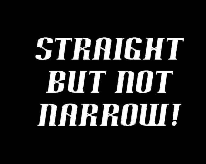 Art Punk Shirts Punk Shirt LGBT DIY Print Straight but Not Narrow Ally Pride Gay Lesbian Bisexual Transgender Queercore Queer Shirt
