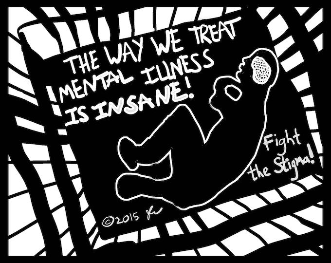 Art Punk Shirts Punk Shirt Print DIY Mental Illness Awareness Prisoner of the Mind Fight the Stigma Crust Anarcho Punk Shirt